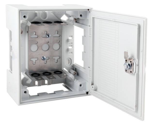 Caja distribución interior 30 pares con llave .