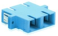 Adaptador SC-UPC dúplex monomodo azul