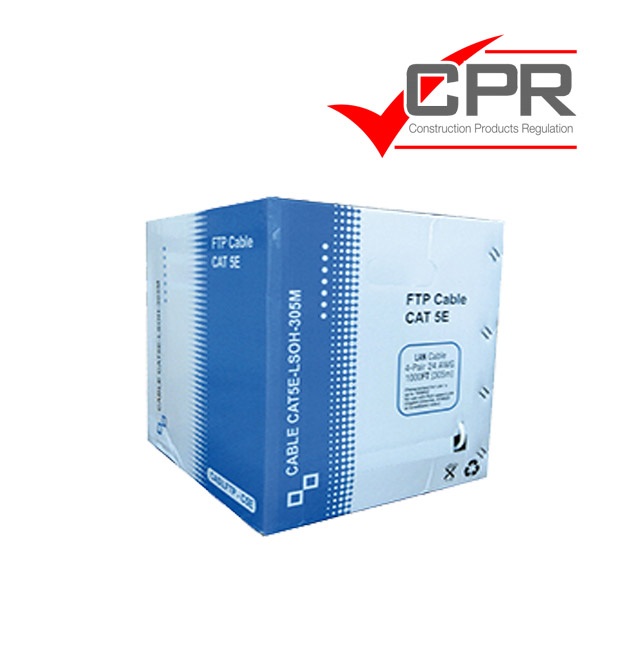 Cable Cat. 5e F/UTP CU LSZH rígido 305m. blanco CPR Eca