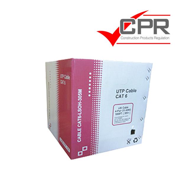 Cable Cat. 6 UTP LSZH cca rígido 305m. blanco .