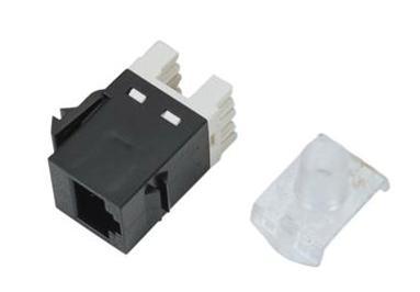 Módulo H RJ45 UTP Cat. 6 180º 110 250 Mhz 1 Gbit tipo Amp negro .