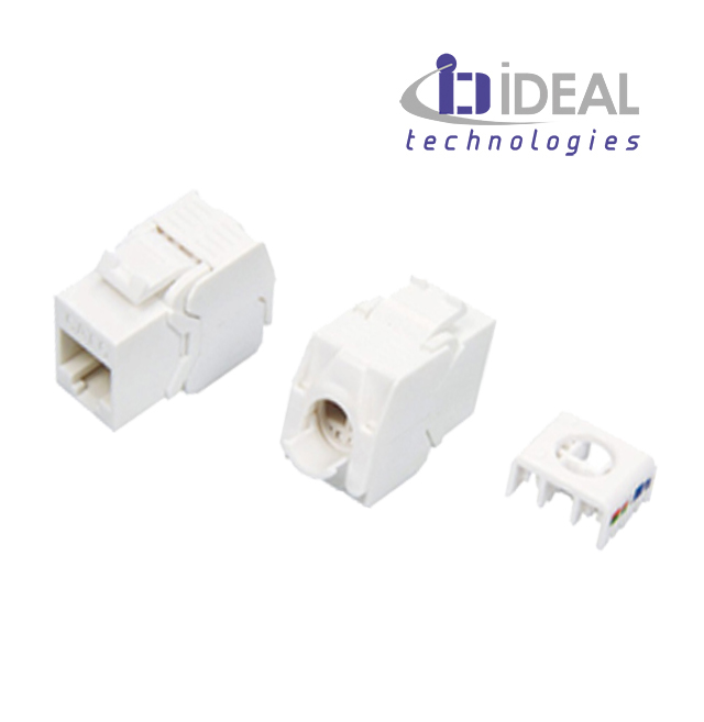 Módulo H RJ45 UTP Cat. 6 180º 250 Mhz 5 Gbit tooless IDEAL