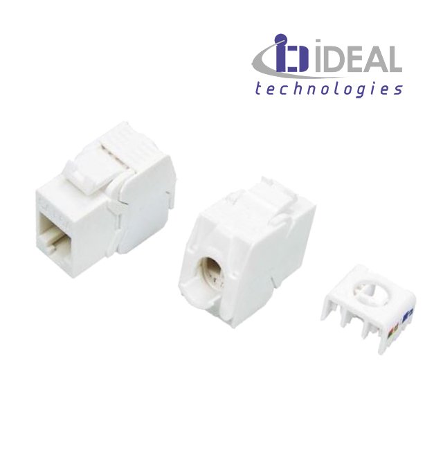 Módulo H RJ45 UTP Cat. 6A 180º 250 Mhz 1 Gbit tooless IDEAL