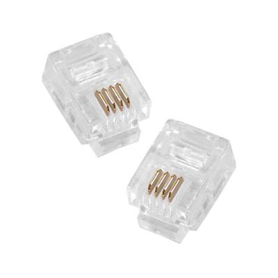 Conector telefónico RJ11 macho 6P4C