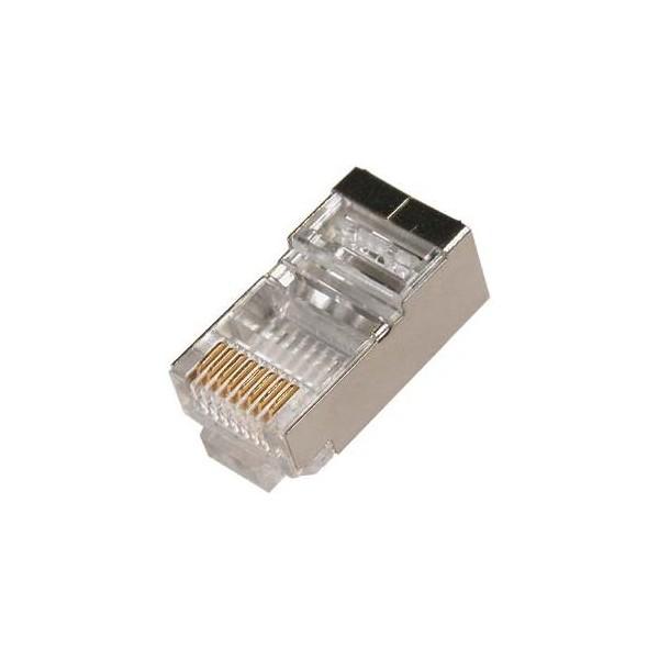 Conector RJ49 FTP Cat. 6 apantallado rígido flexible