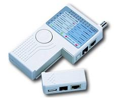 Lan tester RJ11, RJ45 y USB con remoto .