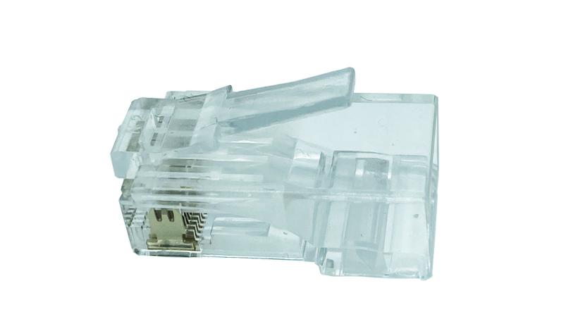 Conector RJ45 Cat. 6 UTP rigido/flexible